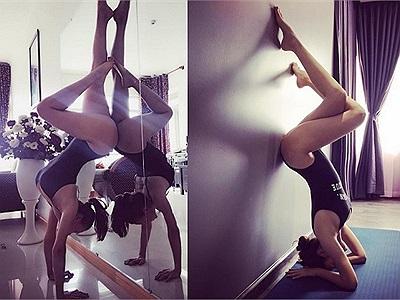 Hà Hồ, Phạm Hương chơi trội mặc đồ bơi đi tập yoga, Ngọc Trinh học theo nhưng kết quả là….