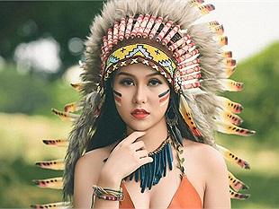 Thiếu nữ Hà Thành đầy gợi cảm và mạnh mẽ trong trang phục thổ dân