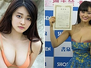"""Vẻ đẹp khó cưỡng của mẫu nữ nội y có """"chứng chỉ trinh tiết"""" nổi tiếng Nhật Bản"""