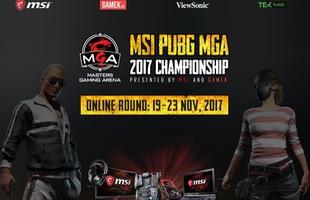Công bố danh sách chia bảng vòng loại squad online của giải đấu MSI GameK PUBG 2017