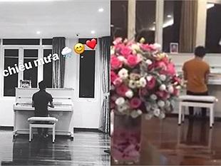 Cường Đô la lãng mạn đàn piano tặng người yêu mới Đàm Thu Trang