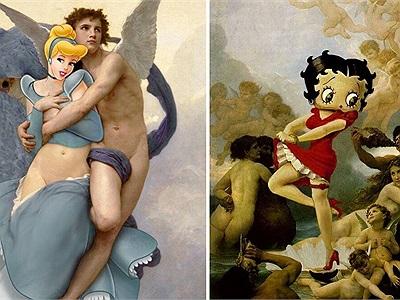 Ngất ngây với loạt tranh hoạt hình kết hợp với những tác phẩm cổ điển